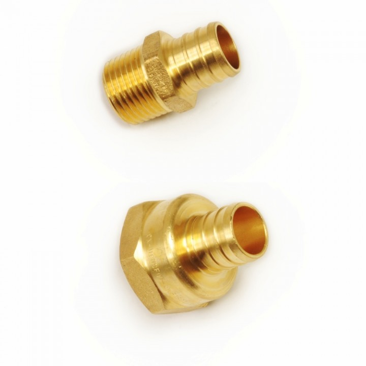 CrownPEX DZR Brass NPT Adapters