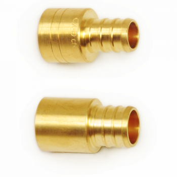 CrownPEX DZR Brass Sweat Adapters